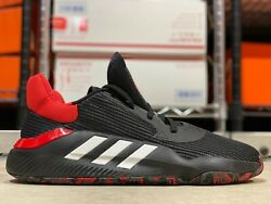 Adidas Pro Bounce 2019 Low Mens Basketball Shoes Black Red G26182 NEW Size 13 $69.99