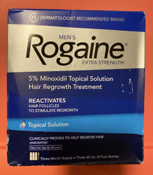 Men#x27;s Rogaine Extra Strength 3 Month Supply Hair Regrowth Treatment Exp 2 2022 $37.94