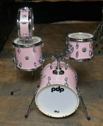 PDP 4pc New Yorker Drum Set Pink Rose Sparkle $359.99