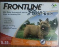 FRONTLINE Plus for 5 to 22 Pounds Dogs 6 Doses $37.00
