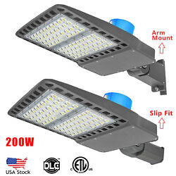 LED Area Roadway Parking Lot Light 200w Commercial with Photocell 120 277Volt AC