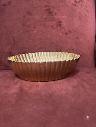 Solid brass vintage scalloped decorative bowl $30.00