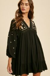 NEW Boho dress Free People Style Must Have LARGE $55.00