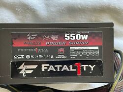 OCZ Fatal1ty 550W ATX Power Supply Modular 80 Fatality OCZ FTY550W Used EXC $45.00