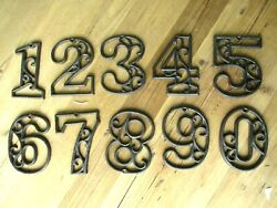 Metal House Numbers Street Address LARGE Rustic Cast Iron Pick ##x27;s from 0 9 # $6.99