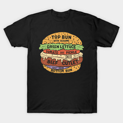 Hamburger T Shirt Tee Novelty Gift Size S 5XL Unisex $16.99