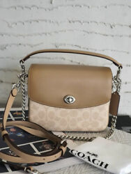 Cassie Crossbody 19 In Signature Canvas SAND TAUPE NEW $199.99