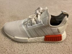 Adidas NMD R1 Off White Lush Red Size 7 1 2 $60.00