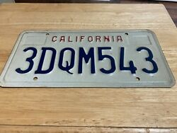 CALIFORNIA LICENSE PLATE USED AND EXPIRED 3DQM543 $5.18