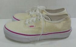Vans quot;Off The Wallquot; Girls Sneakers Lace Up Glitter Size 1.5 kids 2A $14.99