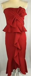 Gianni Bini GB Dress 0 Strapless Sheath Red Cocktail Prom Homecoming New $189 $49.99