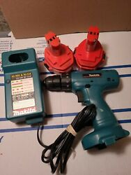 Makita 6228d power drill 2 batteries and recharge station working tested $59.99