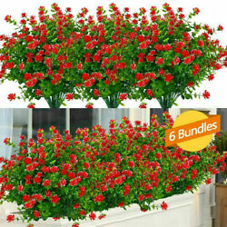 Artificial Plants Fake Flowers In Outdoor For Garden Porch Window Box Plants