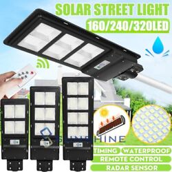 2100000LM Commercial Outdoor Dusk to Dawn Solar Street Light IP67 Road LampPole