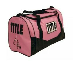 TITLE BOXING Pink amp; Black Women#x27;s Boxing Sport Duffel Gym Bag New Free Shipping $40.00