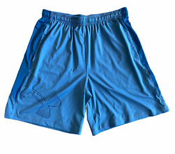 Under Armour Mens Short UA Side Graphic Shorts Blue New GBP 14.99