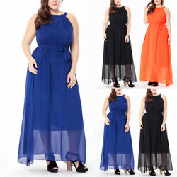 Womens Sleeveless Maxi Dress Summer Casual Loose Party Gown Tank Dress Sundress $50.44