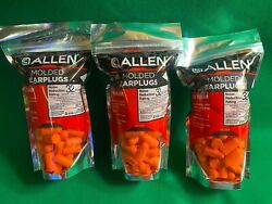 150 Pair Allen Molded Foam Ear Plugs Hearing Protection Hunting Range NPR 32 DB $14.95