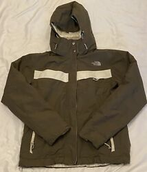 The North Face HyVent Woman's Brown Inlux Insulated Ski Snow Jacket Size Large $54.99