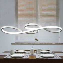LED Curved Suspend Pendant Lamp Contemporary Chandelier Ceiling Lighting Fixture $89.00