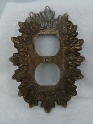 Antique Vintage Wall Plate Edmar #32 Single Outlet $15.00