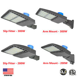 300W 200W LED Street Light Commercial Outdoor Waterproof IPX7 Road Lamp US Ship