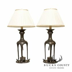 Mid Century Modern James Mont Style Pair Table Lamps $1495.00
