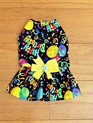 Small HAPPY BIRTHDAY TO ME Dress Dog dress clothes Puppy Apparel $11.99