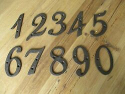 Metal House Numbers Street Address Cursive Rustic Cast Iron Pick ##x27;s from 0 9 # $4.95