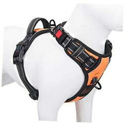 Reflective Dog Harness Large Breed L Neck: 16 24quot;. Chest: 22 33quot; Orange $23.49