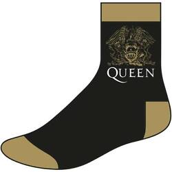 Queen Men#x27;s Crest Size 8 12 Socks One Size Black $16.29