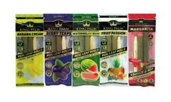 10X KING PALM WRAPS VARIETY PACK REAL LEAF ROLLS MINI SIZE 5 PACKS $18.89