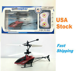 Mini RC Helicopter Infrared Induction Aircraft Remote Control 2CH RC Drone $11.99