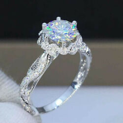 Gorgeous Women Jewelry 925 Silver Rings White Sapphire Wedding Jewelry Size 6 10