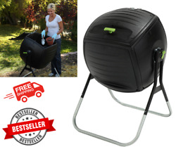 50 Gal Compost Tumbler Rotating Composter Black Outdoor Gardening Equipment New $204.99