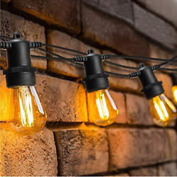 128Ft Outdoor Waterproof Led Bulbs Commercial Patio Edison Vintage String Lights