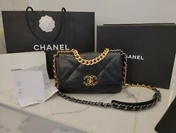100% Authentic Chanel 19 bag Black Size small With receipt $5800.00