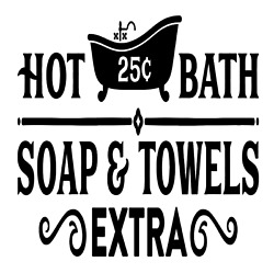 Hot Bath Soap amp; Towels Extra Vinyl Decal Sticker For Home Wall Bathroom Sign $6.29