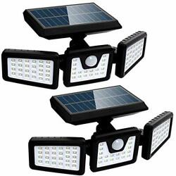 Solar Lights Outdoor with Motion Sensor 3 Heads Security Lights Solar Powered... $45.02