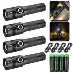900000lm Tactical Led Flashlight Rechargeable USB XHP50 Zoom Magnetic Tail Torch $12.99