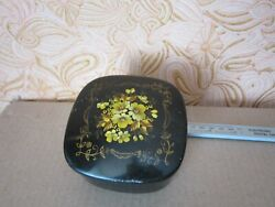VINTAGE Box Antique Aluminum painted USSR Flea fifties year Painted Jewelry $18.00