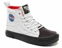 Vans Off The Wall Kids X NASA Space Voyager SK8 Hi MTE Shoes $125.00