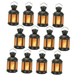 Vintage Decorative Lanterns Battery Powered LED with 6 Hours 12 PACK Black $156.22