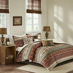 Queen Comforter Set Bedding South Western Rustic Farm House Log Cabin Lodge 7Pc $129.30