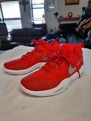 Nike 2017 Zoom Rev TB Basketball Sneakers Men#x27;s Size 8 922048 600 Red