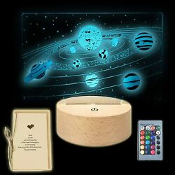 Solar System Remote Illusion Night Light Lamp Gift Shippiing from US $16.99