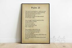 Psalm 23 poster Christian Wall Décor The Lord Is My Shepherd Bible Verse $14.00