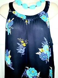 🌼TORRID🌼 FLORAL BLACK HALTER TOP 🌼 2X Hi Low EUC