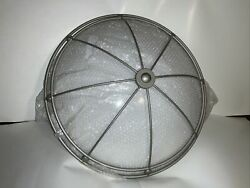 "24"" Round Commercial Ceiling Light Fluorescent Or Led Decorative Gray Basket"