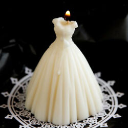 Freesia Scented Candle Wedding Bride Gown Relaxing Home Decor Dessert Candle $10.75